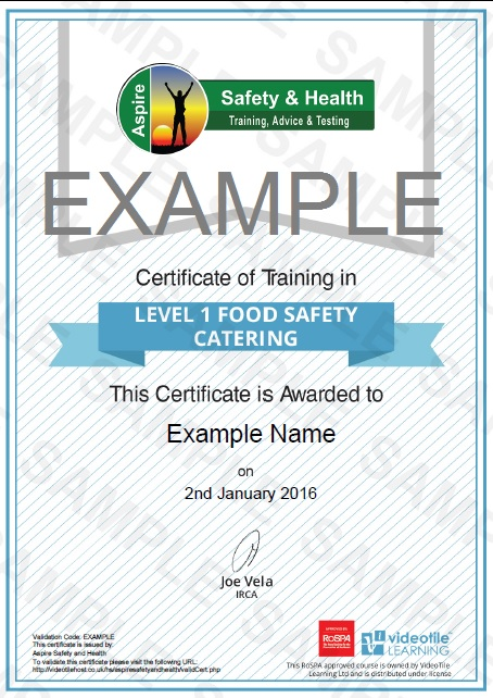 Online Level 1 Food Hygiene in Catering Training   Risk